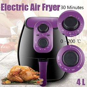 220v/50hz 4L Electric Air Fryer 0-200 ℃ No Oil Heathly Kitchen Cooker 1300W French Fries電動エアフライヤー0...