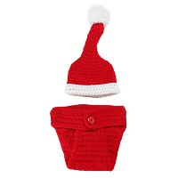 Zhhlaixing ベビー服 Baby Photography Prop, Newborn Crochet Costume Outfits Christmas Style