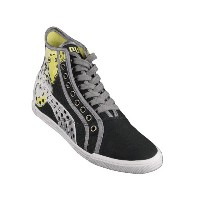 Puma Crete Mid Wings Womens Sneakers / Shoes - White Black-Black-26.5