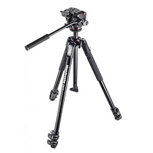 Manfrotto マンフロット カメラ 三脚 MK190X3-2W 190 Aluminum 3 Section Tripod Kit with MHXPRO-2W Fluid Head ...