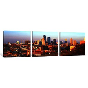 iCanvasART 3ピースKansas City MOキャンバスプリントbyパノラマ写真、1.5by 36by 12-inch