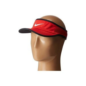 ナイキ メンズ 帽子 サンバイザー【Aerobill Featherlight Visor】University Red/Black/White