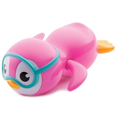Munchkin Wind Up Swimming Penguin Bath Toy, Pink by Munchkin