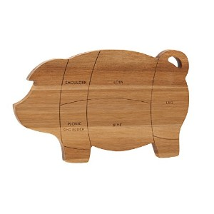 "Paula Deen 46594パントリーWare Pig Cutting and Serving Board、8.5 "" X 14インチ、木製"
