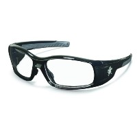 MCR Safety SR110 Swagger Brash Look Polycarbonate Dual Lens Glasses with Polished Black Frame and...
