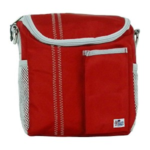 Sailor Bags 313-RG Lunch Bag True Red with Grey Trim