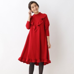 【SALE 50%OFF】アナトリエ anatelier special for anatelier フリルワンピース (レッド)