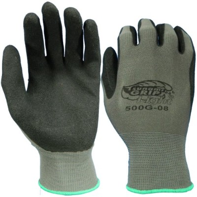 Global Glove 500G Tsunami Grip Air Injected Nitrile Glove, Work, Small, Black/Gray (Case of 72) by...