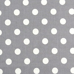 SheetWorld Fitted Crib / Toddler Sheet - Polka Dots Grey - Made In USA by sheetworld