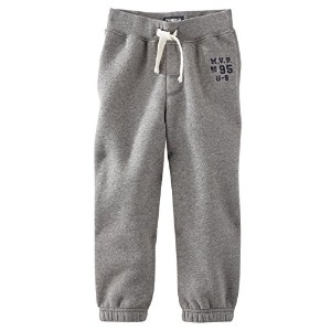 OshKosh B'gosh MVP Vintage Fleece Pants Baby Boys (9 Months, Grey) by OshKosh B'Gosh