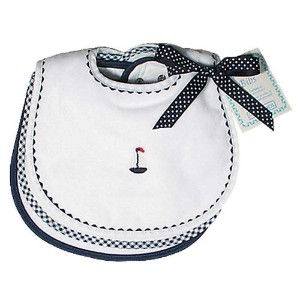 Raindrops Primary Teething Bib Set, White/Navy by Raindrops