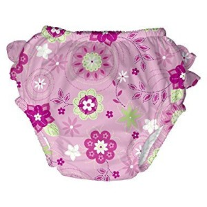 i Play Baby Girls' Ultimate Swim Diaper (Medium, Pink Floral) by i play.