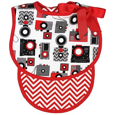 Raindrops Camera Bib and Burp Set, Red by Raindrops