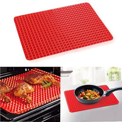1 PC Home Use Red Pyramid Bakeware Pan Nonstick Silicone Baking Mats Pads Moulds Cooking Mat Oven...