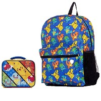 Pokemon Largeバックパックand Insulated Square Lunchbox–キッズ