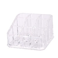 Zehui 9 Holes Clear Acrylic Cosmetic Makeup Organiser Transparent for Lipstick, Brushes, Bottles,...