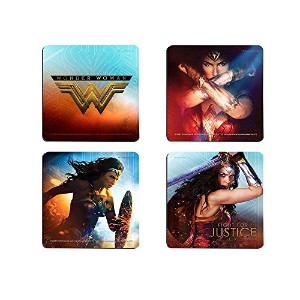 Wonder Womanハードボードコースターセット – Fight For Justice – 4 Piece