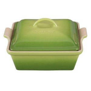 Le Creuset Stoneware 2 – 1 / 2-quart Covered Square Casserole NoSize グリーン PG08053A-234P