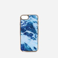 【SALE 30%OFF】マーブルiPHONEケース(iPHONE7用) / MARBLE iPHONE CASE (iPHONE7) (Blue) レディース