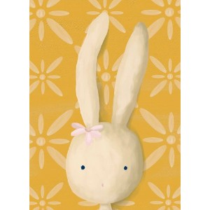 Oopsy daisy Rae The Bunny Stretched Canvas Wall Art by Meghann O'Hara, 10 by 14-Inch by Oopsy Daisy