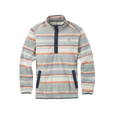 BURTON MB HEARTH FLEECE ANORAK 2018FW BUSTER STRIPE