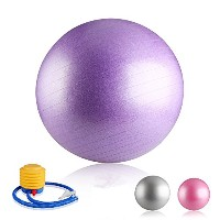 WIKOOL バランスボール 65cm エクササイズ 体幹トレーニング ポンプ付Fitnes Exercise Gym Fit Training Yoga Ball