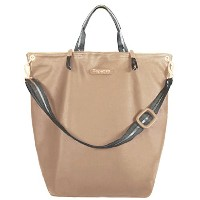 [レペット]repetto Shopping bag Grand ecartSilk calfskin Sandstone beigeレザー 2way トートバッグM0145VS-798 ...