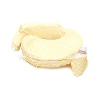 My Brest Friend Nursing Pillow Deluxe Slipcover, Flower Key, Yellow, White by Zenoff Products
