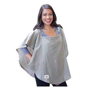 Poncho Baby Organic Nursing Cover, Oval Olive Green, Olive by Poncho Baby