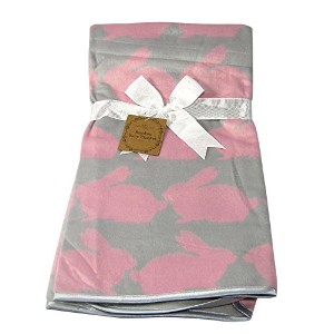 Bamboo Baby Blanket Pink Bunnies by Manhattan Kids