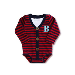 Mud Pie Baby Boy's Initial Crawler Set 0-6 Months (Letter B) by Mud Pie
