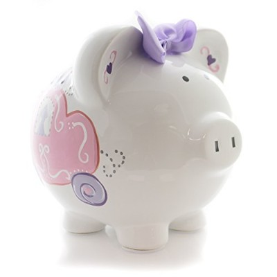 (Carriage) - Child to Cherish Ceramic Piggy Bank, Carriage
