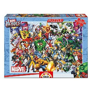 Educa Borras Puzzle Collage of Marvel Heroes (1000 Pieces)