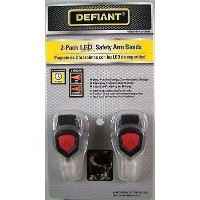 2 LED Reflective Arm Bands for Safety by Defiant