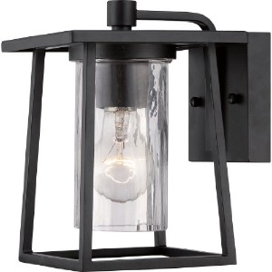 Quoizel LDG8406K Lodge with Mystic Black Finish and Small Wall Lantern, Black by Quoizel
