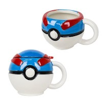 16oz Official Pokemon Go Greatボールプレミアムセラミックコーヒーマグギフトwith Lid
