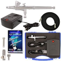 Complete Master Airbrush Airbrushing System - Precision Dual-Action 1/16 oz C... by Master Airbrush