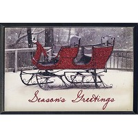 """8"""" Season 's Greetings with Sleigh Wall Plaque"""