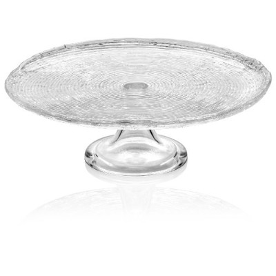 IVV Glassware 6209/1 Wave Cake Stand, 32cm, Clear