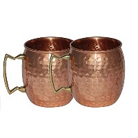 Moscow Mule–のセット2Pure Copper Moscow Mule Ayurvedic水Glasses for Ayurvedic HealthメリットのパーティのBest...