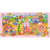 Oopsy Daisy Fairyショッピングストレッチキャンバス壁アートby Sharon Furner 36 by 18-Inch PE0554