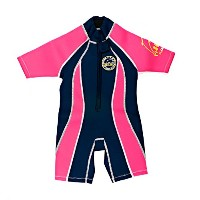 Surfit Girl 's Shorty Wetsuit – ネイビー/ピンク、12 – 18ヶ月