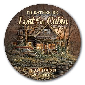 Lost at the Cabinコースターby Terry Redlin