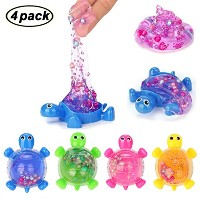 SWZY 4Pack Novel Tortoise Slime Crystal Clay Jelly Toy Putty Slime Soft Mud Scented Stress Relief...