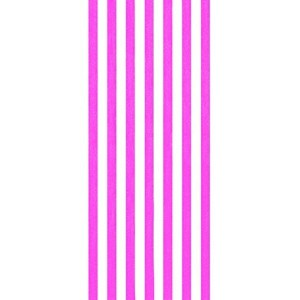 Cabana stripes pink color velour brazilian beach towel 30x60 inches by Bahia Collection by Dohler