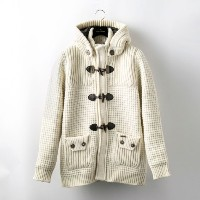 SALE【GUILD PRIME ギルドプライム】 【Bark】MENS SHORT DUFFLE COAT/62B8005 ホワイト メンズ