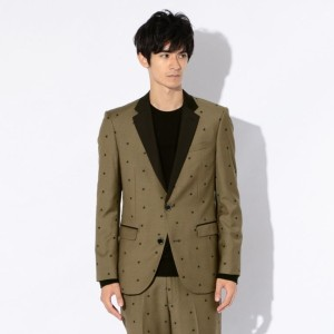 SALE【GUILD PRIME ギルドプライム】 【Education from Youngmachines】MENS ミリタリースターエンブロイジャケット カーキ メンズ
