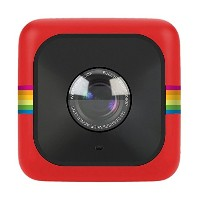 Polaroid Cube+ 1440p Mini Lifestyle Action Camera with Wi-Fi & Image Stabilization (Red) [並行輸入品]