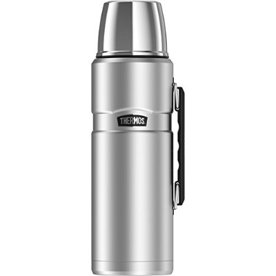(Stainless Steel) - Thermos Stainless King 2010ml Vacuum Insulated Beverage Bottle with Handle,...
