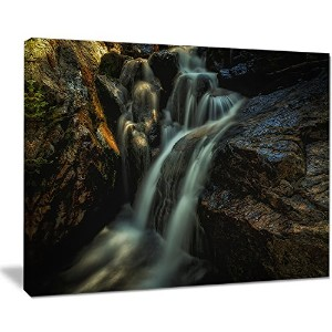 デザインアートSlow Motion waterfall in Summer Landscapeアートキャンバス印刷、20 x 12 ""